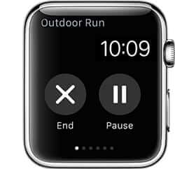 End or Pause Workout on Apple Watch