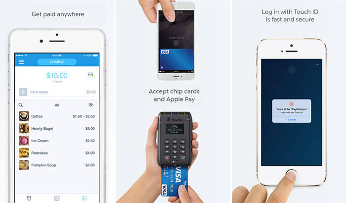 PayPal Here iPhone and iPad POS App Screenshot