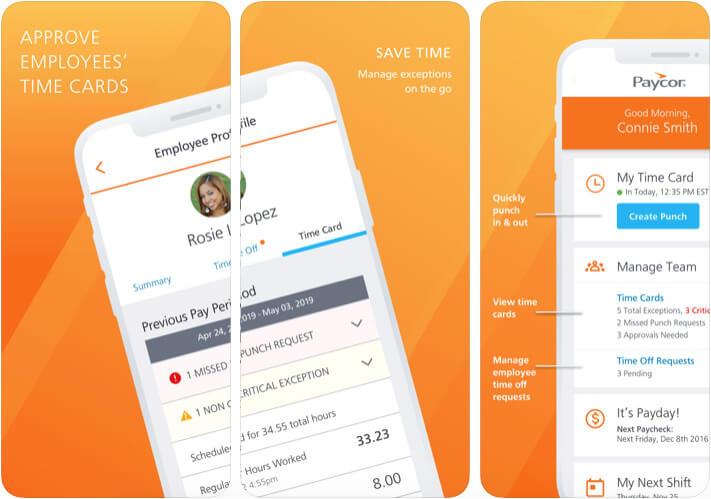 Paycor Mobile HR Management iPhone App Screenshot