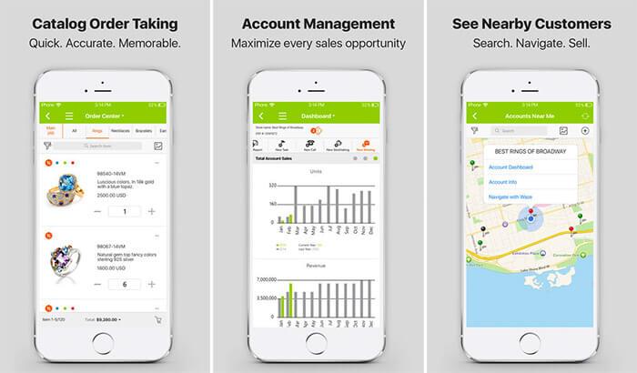 Pepperi Sales Rep iPad Catalogue Management App Screenshot