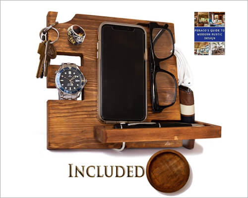 Peraco iPhone 11, 11 Pro and 11 Pro Max Wooden Docking Station