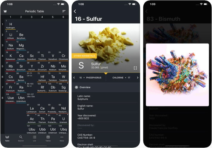 Periodic Table 2020 iOS Chemistry App Screenshot