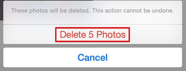 Permanentlh Delete Selected Photos from iPhone or iPad