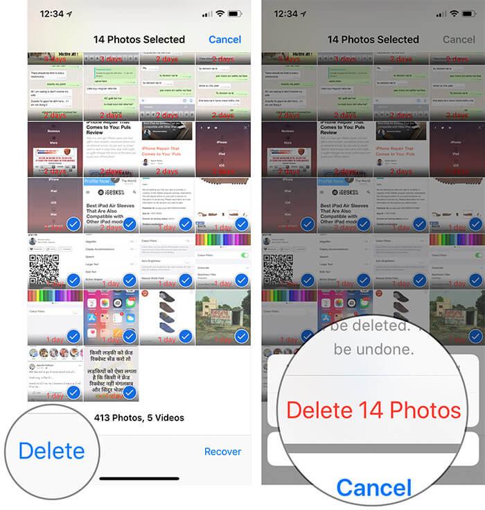 Permanently Delete iPhone Photos