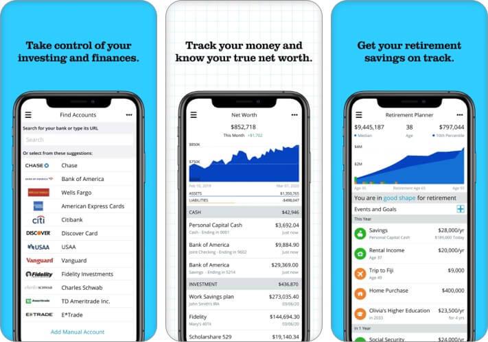 Personal Capital Expense Tracker iPhone and iPad App Screenshot
