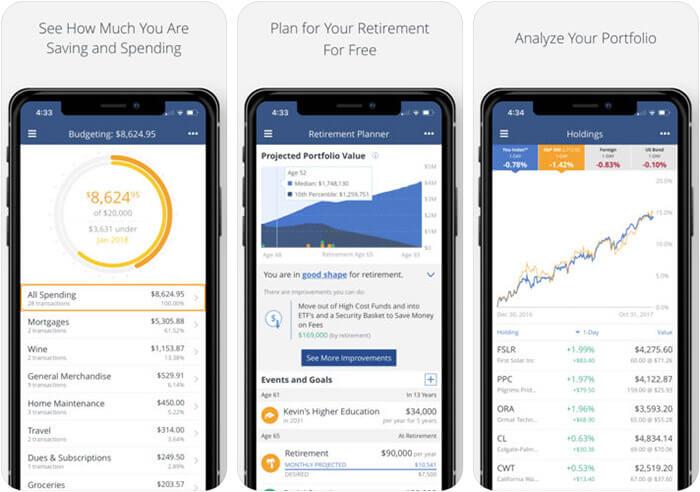 Personal Capital iPhone and iPad App Screenshot