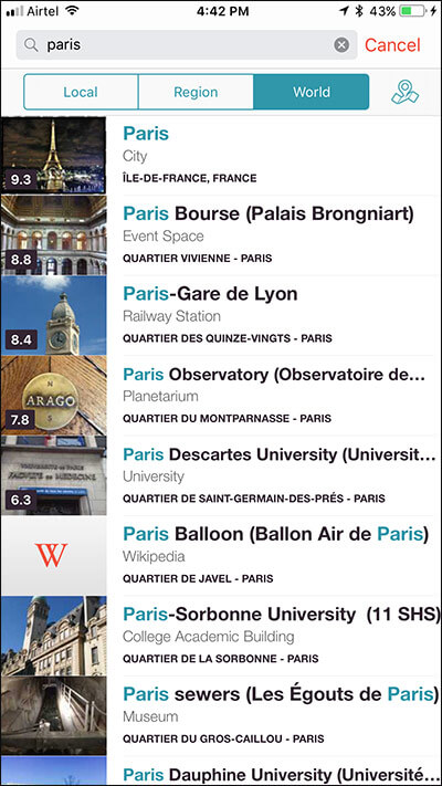 Personalized Contents in CityMaps2Go iPhone App