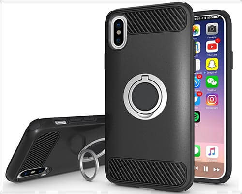 Peyou Ring Case for iPhone X