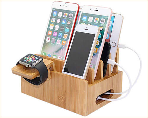 Pezin & Hulin Wooden Docking Station for iPhone Xs Max, Xs, and iPhone XR