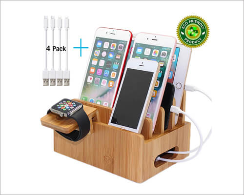 Pezin and Hulin Wooden Docking Station for iPhone 11, 11 Pro and 11 Pro Max