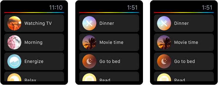 Philips Hue Apple Watch Home Automation App Screenshot