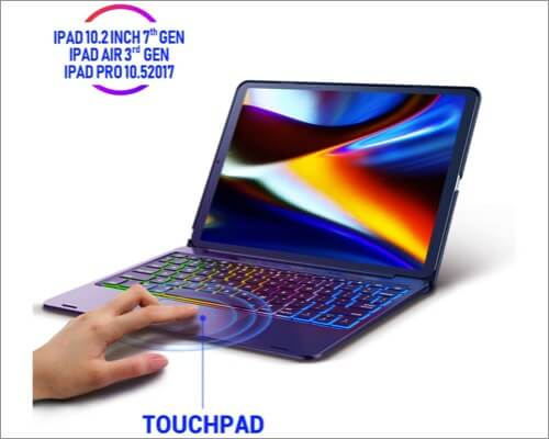 Phixnozar TouchPad Keyboard Case for iPad