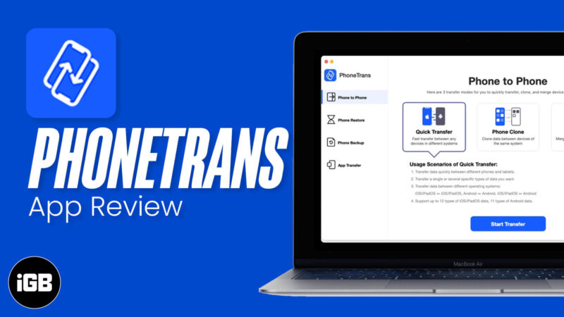 PhoneTrans App Easily Transfer Data to New iPhone or Android Phone
