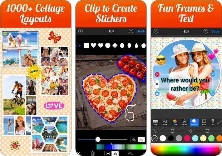 Photo Collage Maker and Creator Valentine's Day app for iPhone screenshot