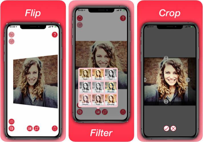 Photo Flipper Selfie Mirror Flip App for iPhone and iPad
