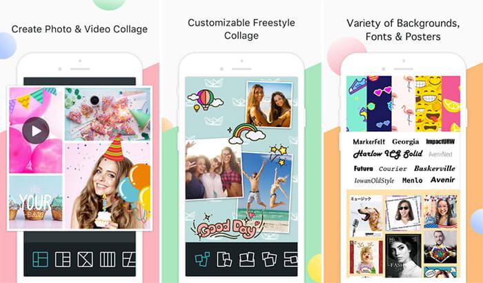 PhotoGrid Collage Making iPhone and iPad App Screenshot