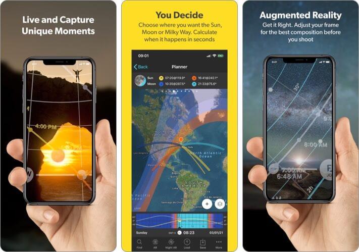 PhotoPills astrophotography iPhone app screenshot