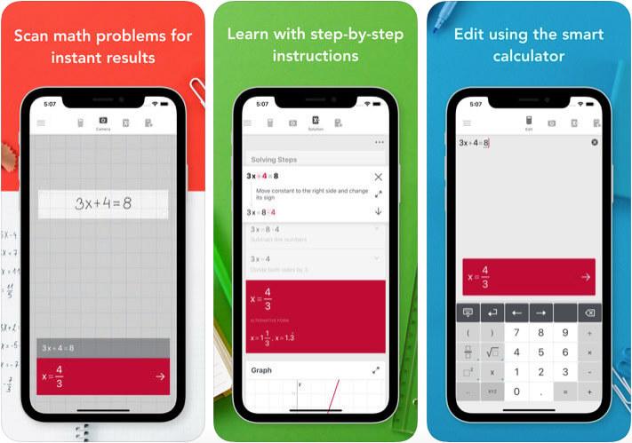 Photomath iPhone and iPad App Screenshot
