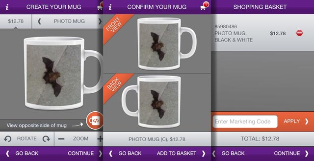 Photomugs iPhone App Review