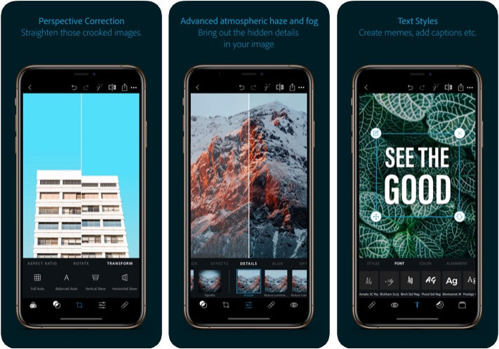 Photoshop Express Flip App for iPhone and iPad