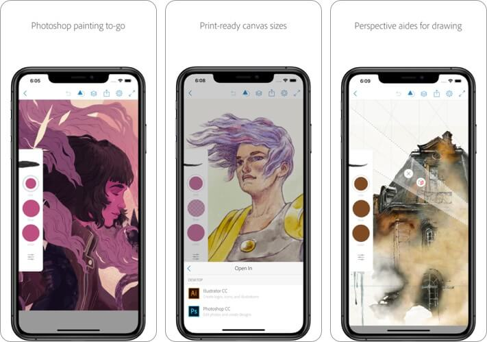 Photoshop Sketch Graphic Desing iPhone and iPad App Screenshot