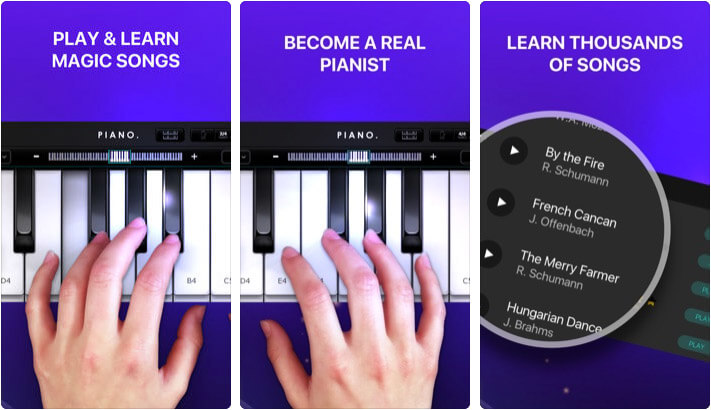 Piano Simply Game keyboard iPhone and iPad App Screenshot