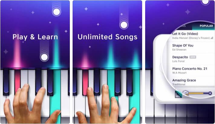 Piano app by Yokee iPhone and iPad App Screenshot
