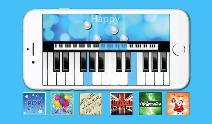 Piano with Songs iPhone and iPad App Screenshot