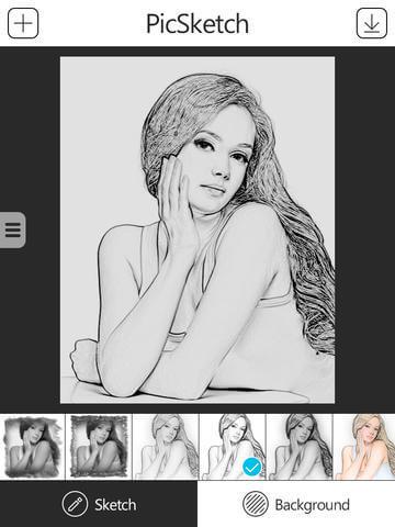 PicSketch iPhone & iPad App