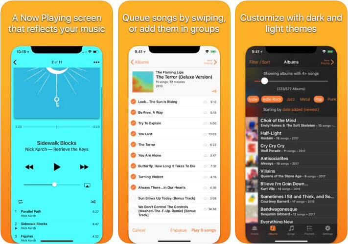 Picky Music Player iPhone and iPad App Screenshot