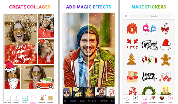 PicsArt Photo Studio для фильтров и эффектов iPhone и снимок экрана приложения