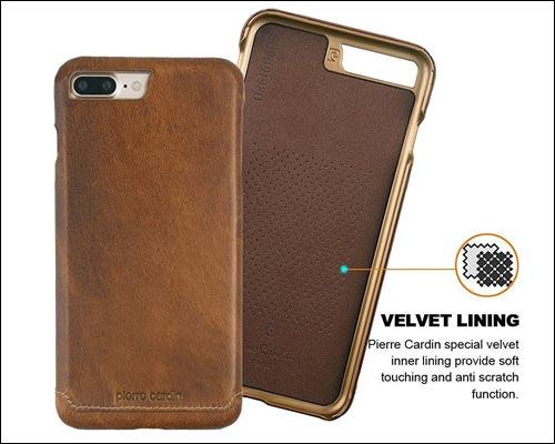 Pierre Cardin iPhone 7 Plus Leather Case