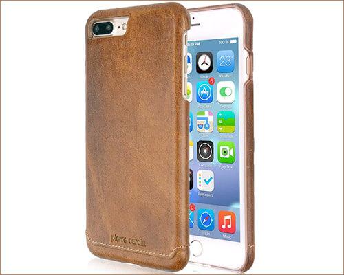 Pierre Cardin iPhone 8 Plus Leather Case