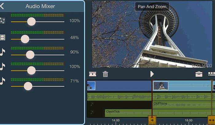 Pinnacle Studio Movie Maker iPhone App Screenshot