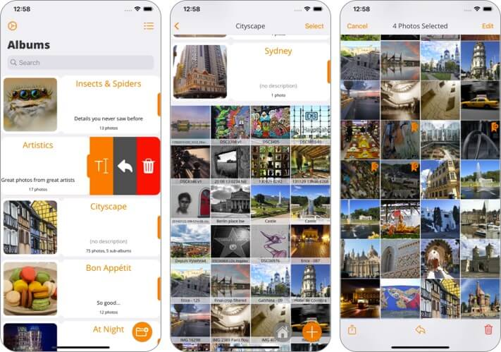 Piwigo iPhone and iPad App Screenshot