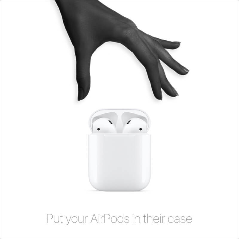 Place your AirPods in their case and close the lid