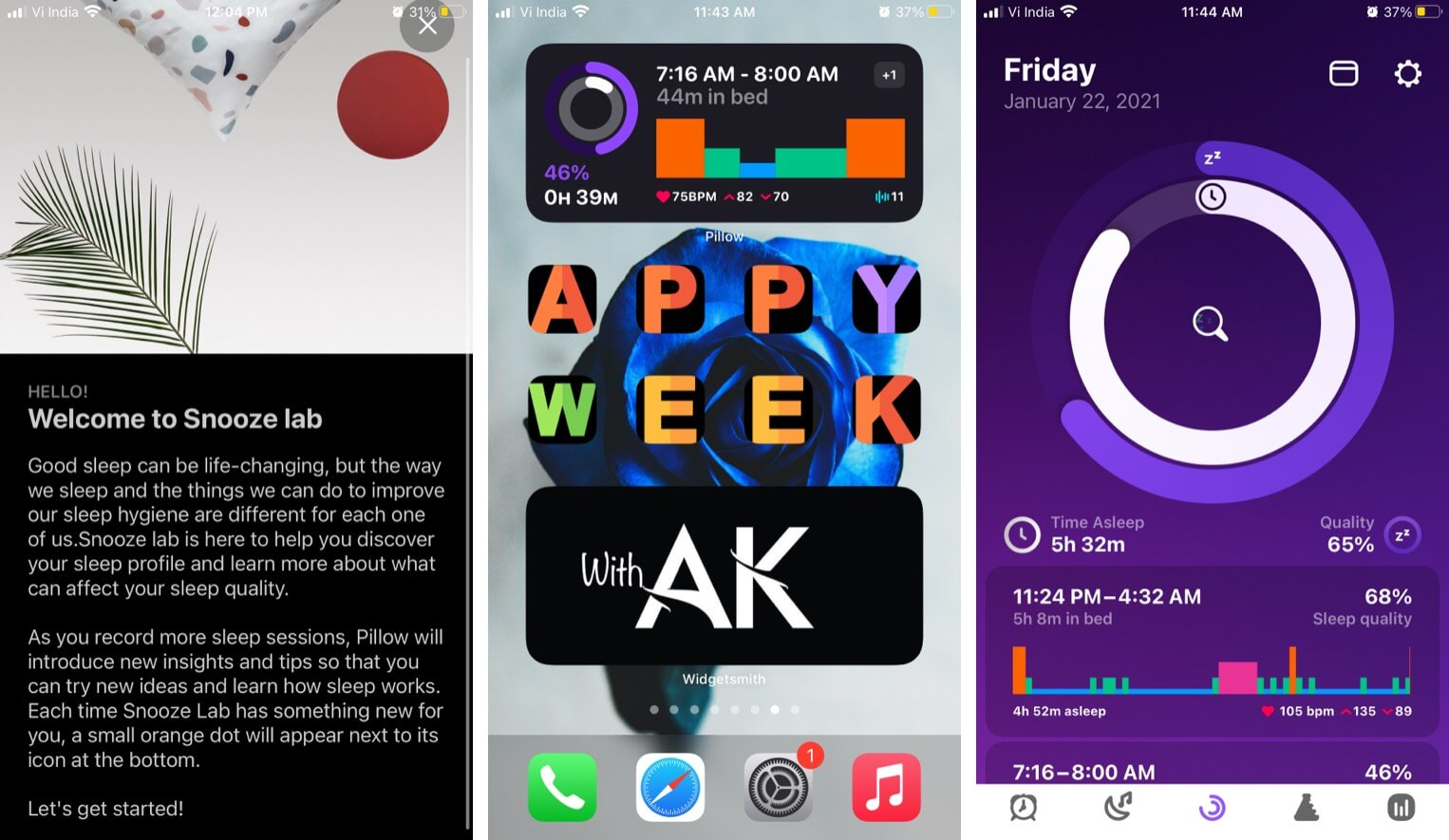 Plan in Pillow iOS app auto adjusts when your sleep vary
