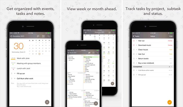 Planner Pro Productivity iPhone and iPad App Screenshot