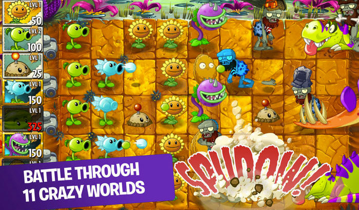 Plants vs. Zombies 2 Strategy iPhone and iPad Game Screenshot