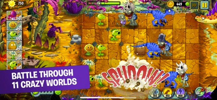 Plants vs. Zombies 2 iPhone and iPad Turn Based Strategy Game Screenshot