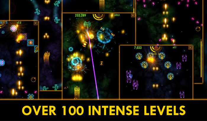Plasma Sky Space Shooter iPhone and iPad Game Screenshot