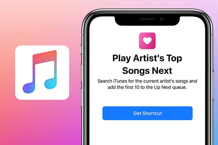 Play Artist Top Songs Next Siri Shortcut