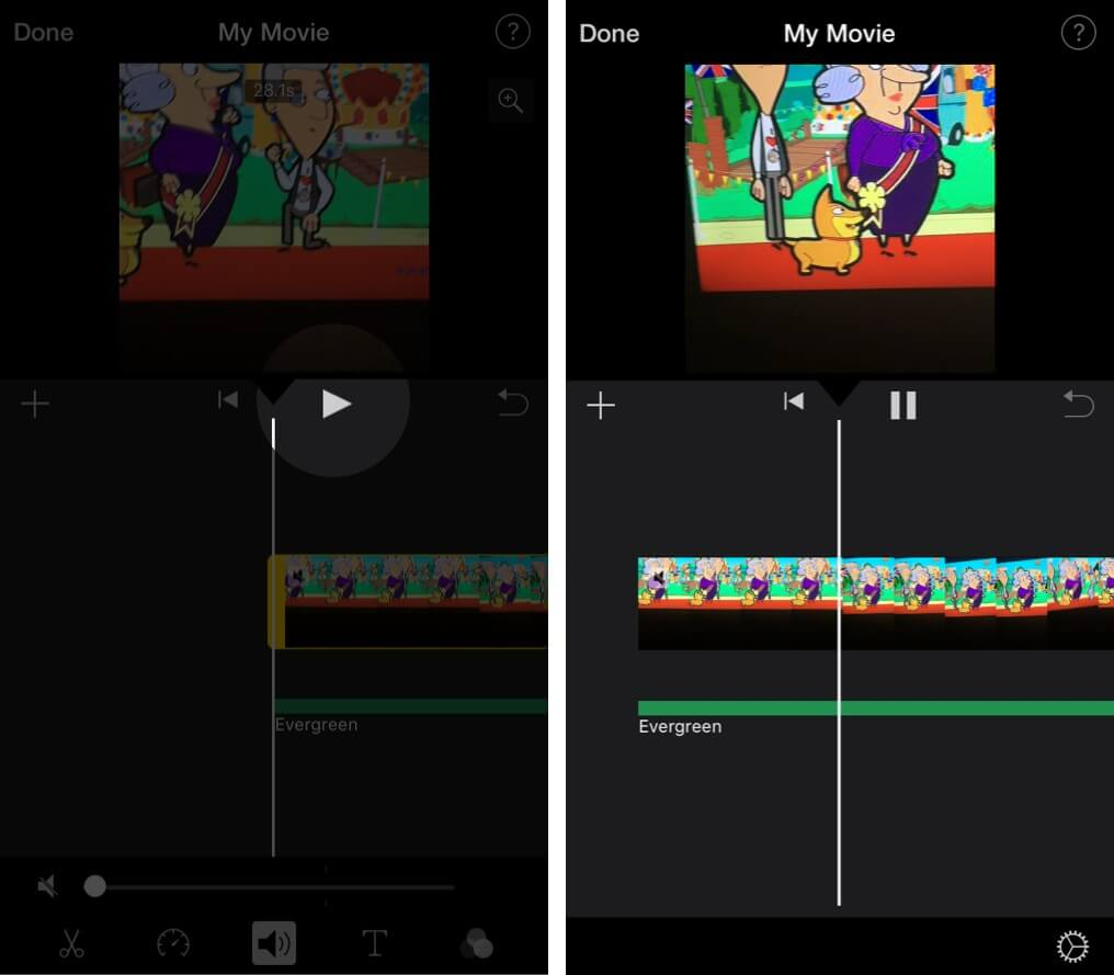 Play Edited Video in iMovie App on iPhone