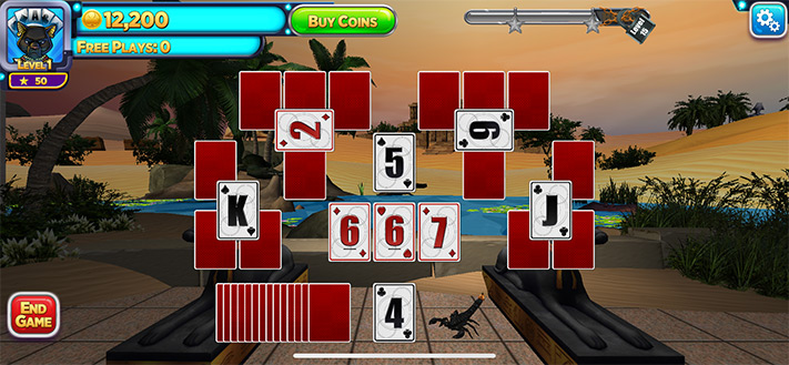 Play Solitaire Time Warp Card Game on iPhone