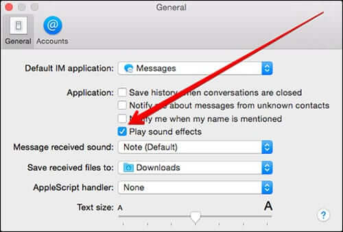 Play Sound Effect in Mac OS X Message App