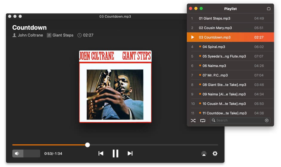 Playlist in Elmedia Mac Video Player