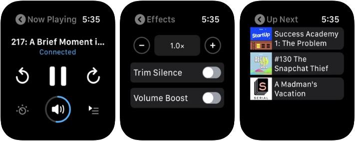 Pocket Cast Apple Watch Podcast App Screenshot