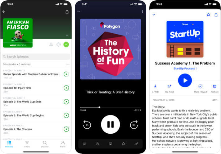 Pocket Casts iPhone and iPad Podcast App Screenshot