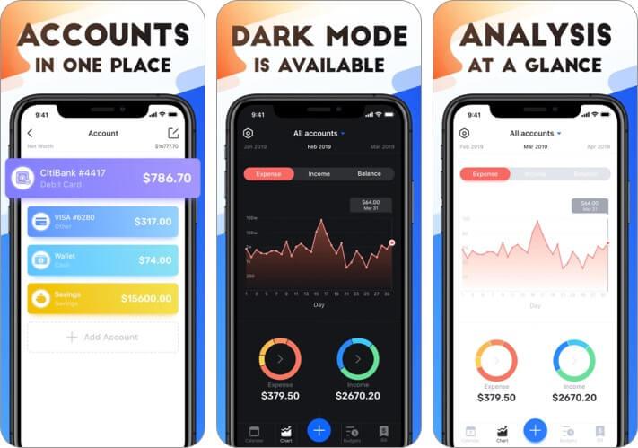 Pocket Expense 6 Expense Tracker iPhone and iPad App Screenshot