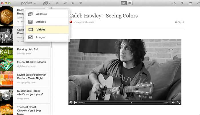Pocket Mac App Screenshot